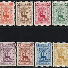 Egeo 1935 - General issues, Holy Year complete set, centred, intact and rare - Sassone S.17a - NN.91/8