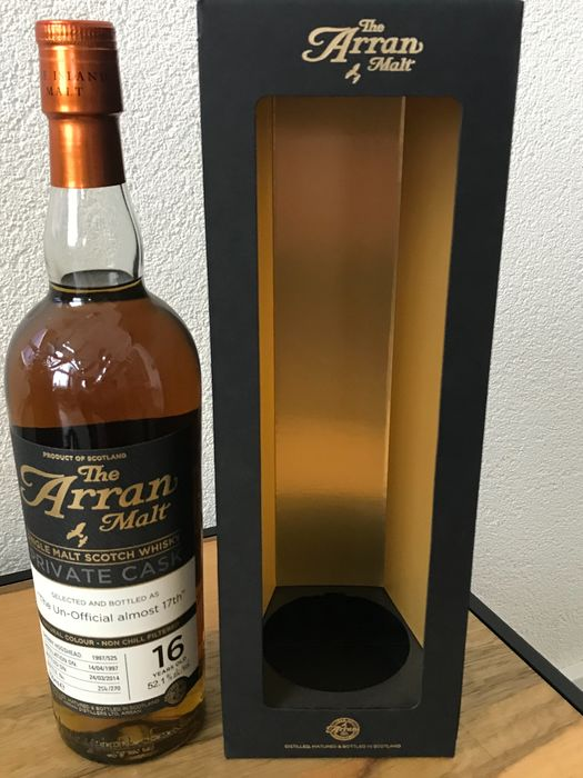 Arran 1997 16 years old 'The Un-Official almost 17th' - Original bottling - b. 2014 - 70cl