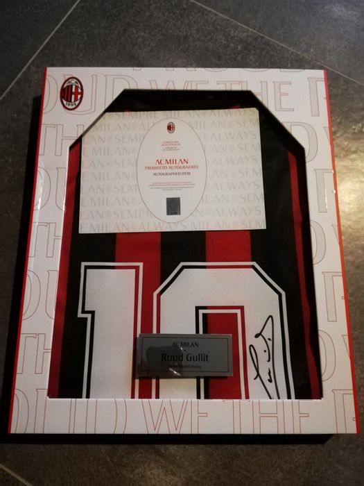 AC Milan - Italian Football League - Ruud Gullit - 1988 - Jersey, Limited edition box