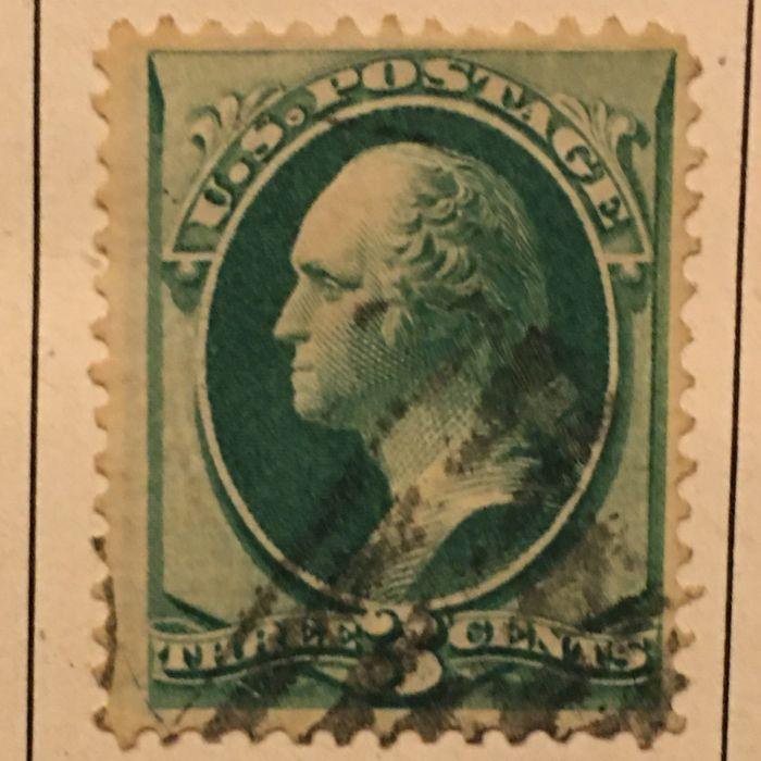 North and South America - Old collections of stamps