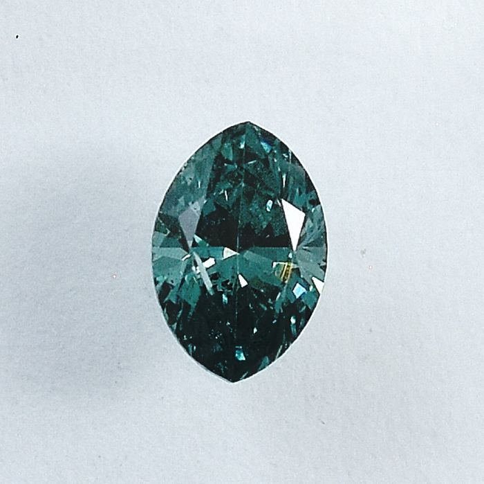 Diamant - 0.32 ct - Marquise - Fancy Green Blue - Si2 - NO RESERVE PRICE