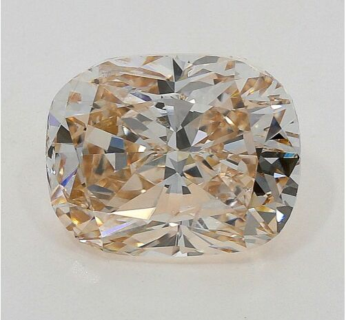 Diamant - 1.01 ct - Coussin - light brown - SI2