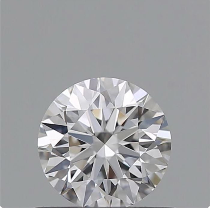 1 pcs Diamante - 0.54 ct - Brillante - D (incoloro) - VVS2, *3Ex*