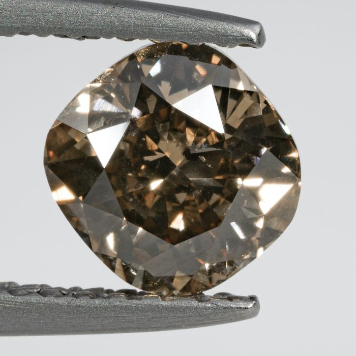 Diamante - 1.01 ct - Cojín - Natural Fancy Yellowish Brown - SI2