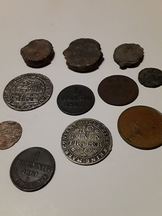 World. Lot various coins 1582/1966 (11 pieces)