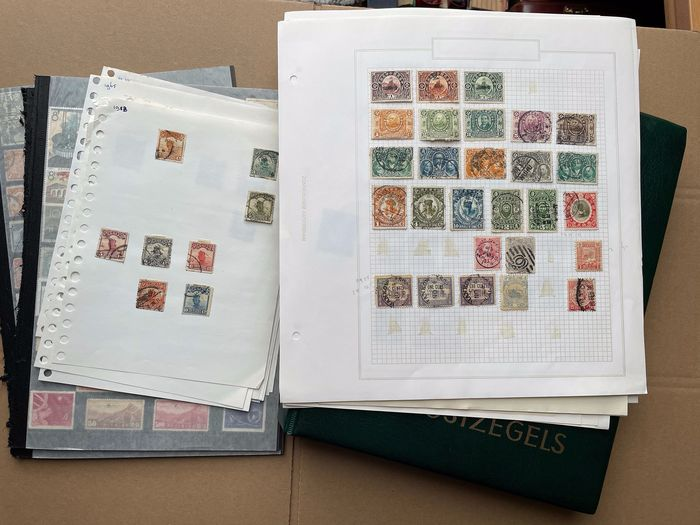 China - 1878-1949 1897/1982 - People's Republic and Territories batch on pages and in an album