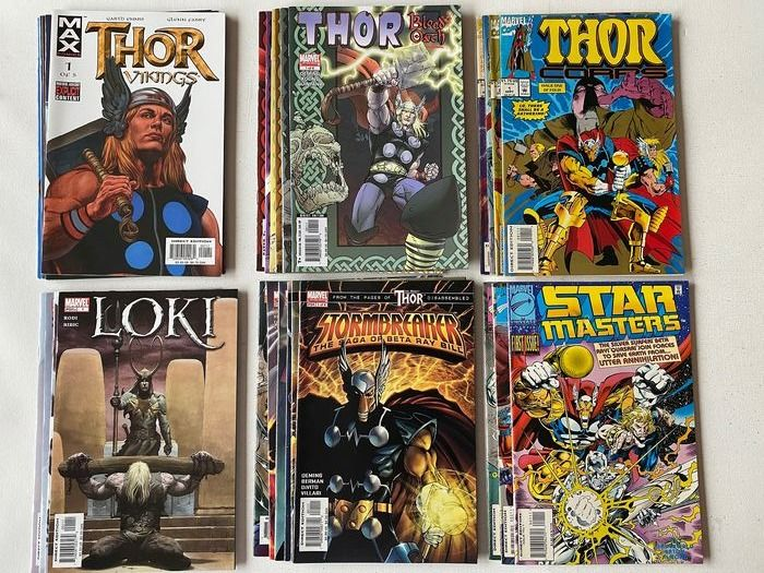 Thor - Vikings 1-5 + Loki 1-4 + Thor: Blood Oath 1-6 + Stormbreaker 1-6 + Star Masters 1-3 + Thor Corps 1-4 - 28 Comics - 6 Complete Thor Related Series - Softcover - Eerste druk - (1993/2005)