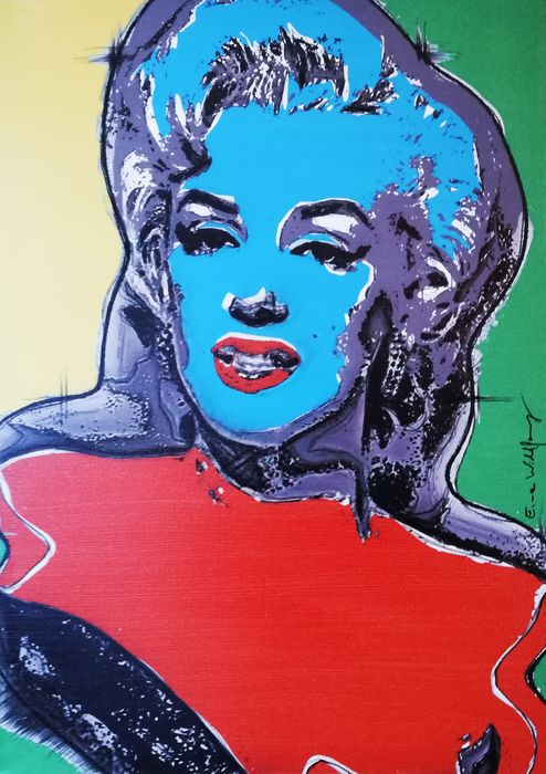 Marilyn Monroe - by Emma Wildfang - Œuvre d'art - Acrylic on Canvas