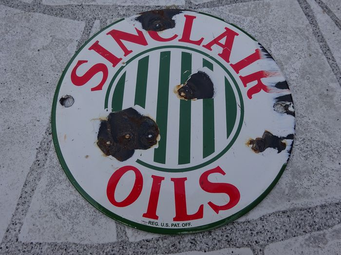 Artículo decorativo - small size original sign - Sinclair Oils