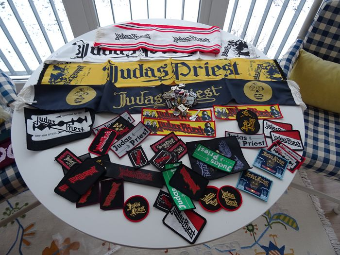Awesome Judas Priest  Merchandise Collection from the 80th and 90th, near 80 Pieces - Multiple titles - Official merchandise memorabilia item - 1980/2000