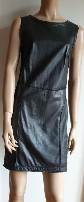 Escada - leather sheath dress Robe