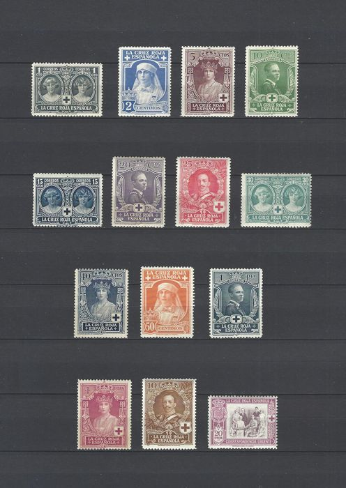 Spanje 1926 - Red Cross complete set - Edifil 325/38