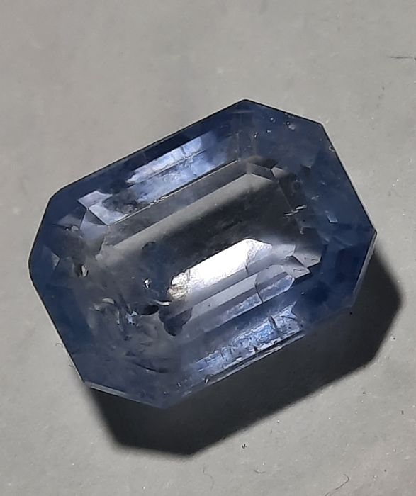 1 pcs  Saffier - 6.21 ct