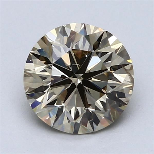 1 pcs Diamante - 1.74 ct - Redondo - amarillo amarronado claro fantasía - VS2