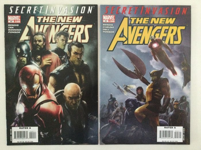 The New Avengers Vol.1  #44-45 + Vol.4 #1-17 + 2 Limited Series: NA The Reunion #1-4 + NA/Transformers #1-4 + 11 more - 38 Comics - Softcover - Eerste druk - (2005/2016)