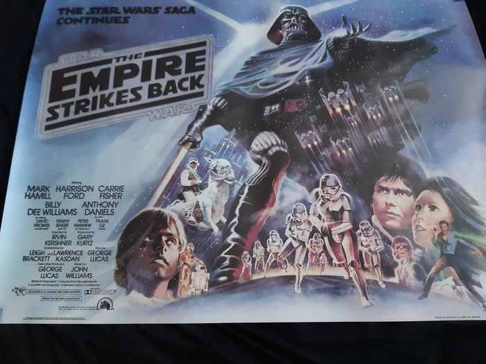 Star Wars Episode V: The Empire Strikes Back - 1:90 - Poster, Reproduction UK Cinema Quad (101x76 cm) 80