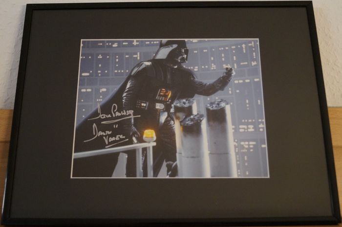 Star Wars - Dave Prowse (+) was Darth Vader - RIP - Autographe, Photo, Signed, framed with Coa