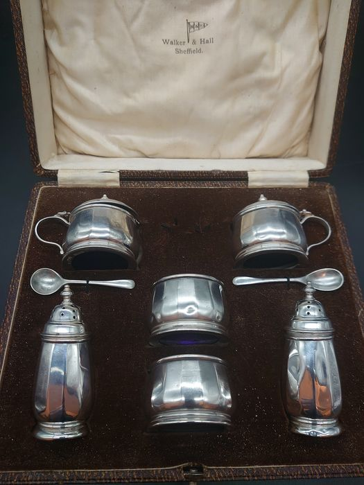 Sterling Silver Cruet Set - .925 silver - U.K. - First half 20th century