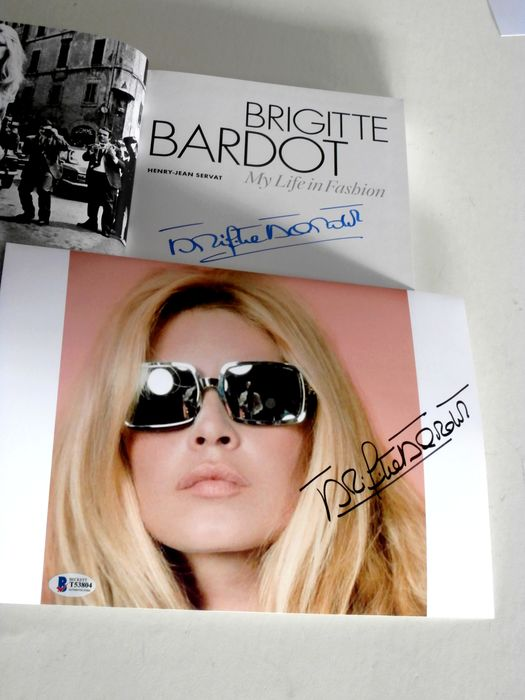 Signed; Brigitte Bardot / H.J. Servat - My Life In Fashion [with signed photo] - 2016/2020