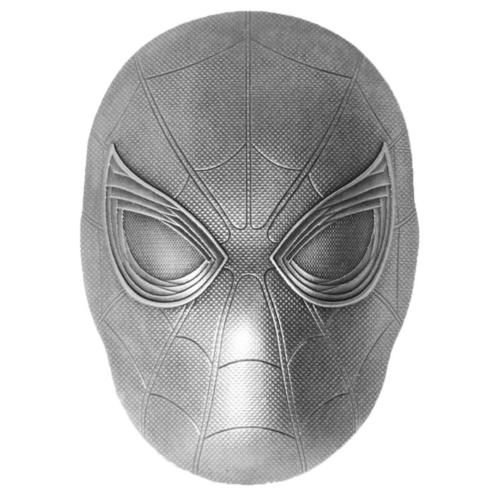 Fiji. 5 Dollars 2019 SPIDER MAN MASK Marvel  2 Oz