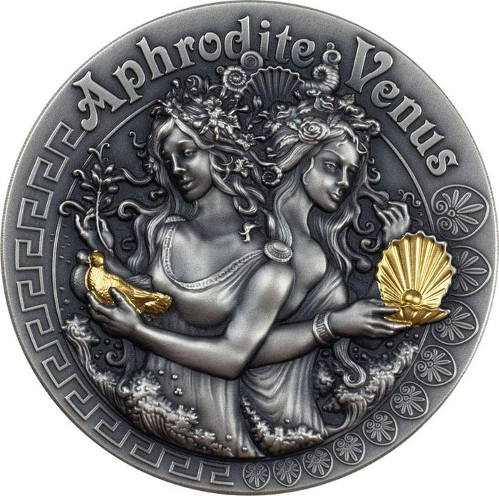 Niue. 2 Dollars 2020 APHRODITE AND VENUS Strong and Beautiful Goddesses 2 Oz