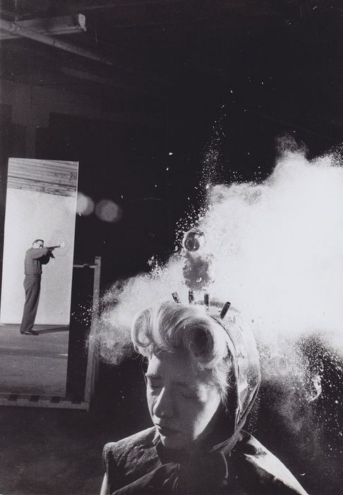 C. Bernstein/ Black Star - Shooting target in the the head  of a woman, c1960s