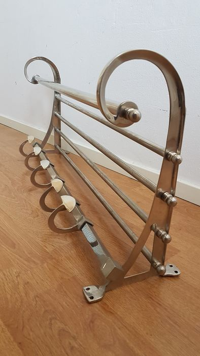 French wall coat rack. - metal
