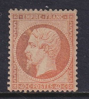France 1862 - Napoleon III, Legende EMPIRE FRANC. 40c orange - Yvert 23