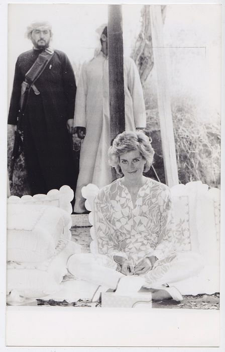 Unknown - Princess Diana lunch in the Arabian Desert, 1989