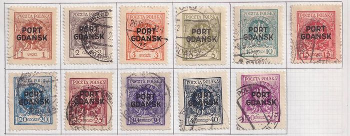 Danzig 1925/1939 - Port Gdansk Small collection of cancelled stamps.