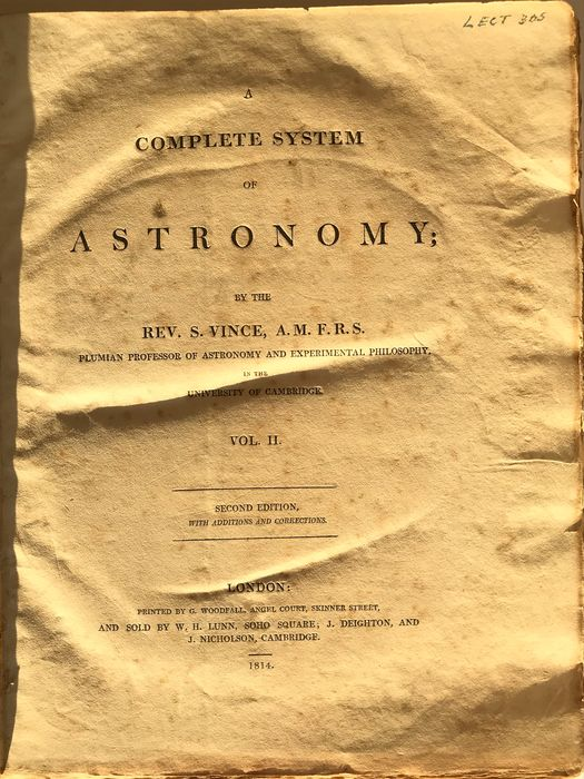 Rev. S. Vince - A Complete System of Astronomy Volume 2 - 1814