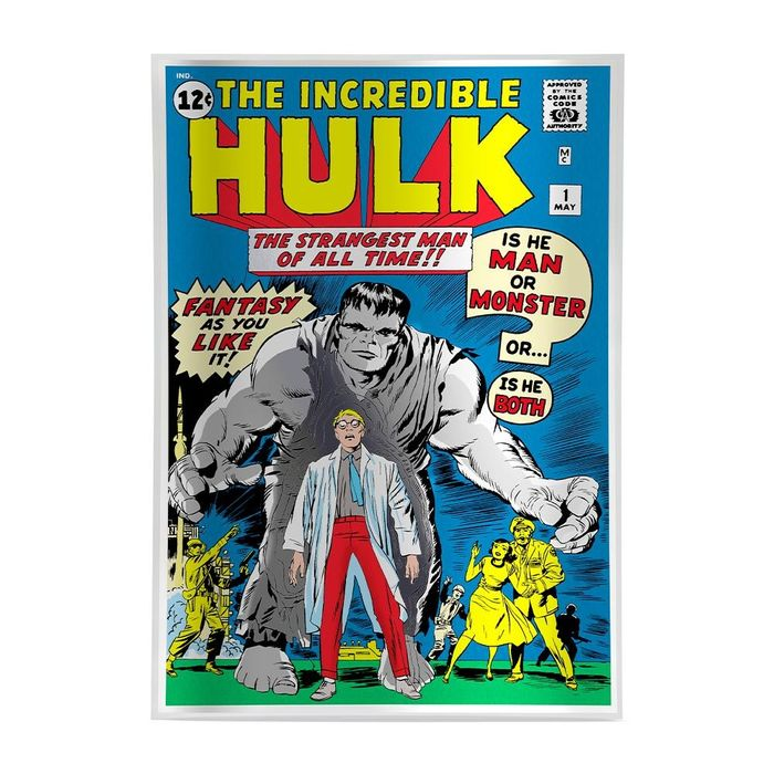 Verenigde Staten. 1st Comic Book Marvel 2019 THE INCREDIBLE HULK - 1 oz Pure Silver Movie Foil