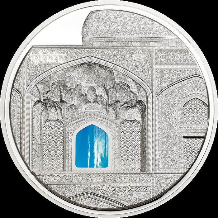 Palau. 20 Dollars 2020 Proof  - TIFFANY ART Isfahan 3 Oz