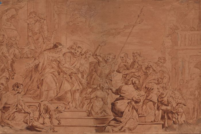 Follower of Paolo Veronese (1528-1588) - Sts Mark and Marcellian led to martyrdom