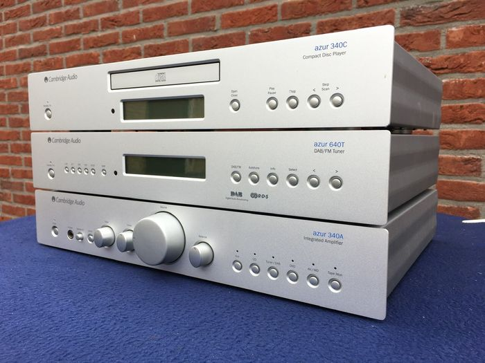 Cambridge - Azur 340C 350A 640T - CD Player, Integrated amplifier, Tuner
