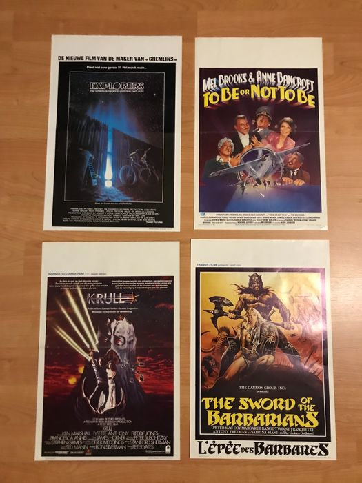 Lot of 20 - Popular Movies, mostly 1980's - see images and description - Poster, Original Belgian Cinema release
