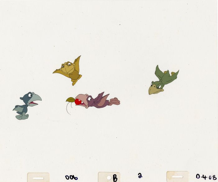 Don Bluth - Original Production Cel - The Land Before Time - Unikat - (1988)