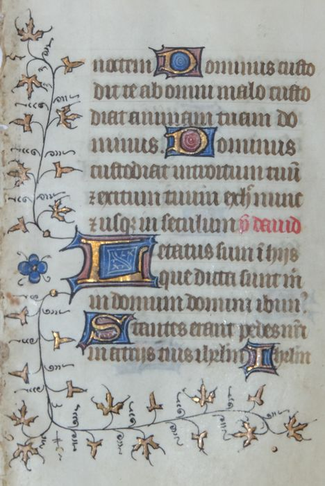 Manuscript - Tours - Rouen, sheet from a Book of Hours c.a. 1430
