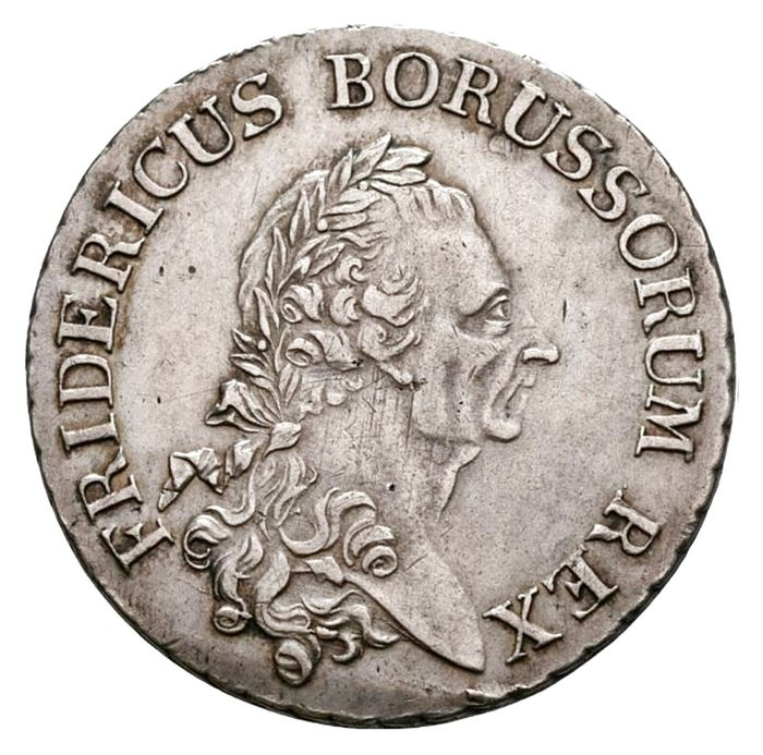 Duitsland, Pruisen. Frederick II of Prussia (The Great). 1 Reichsthaler 1786 A