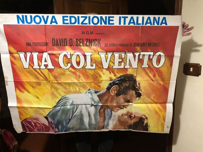 Gone With The Wind (1939) - Poster, Italian Cinema release (140x200 cm) - New Italian Edition 1977