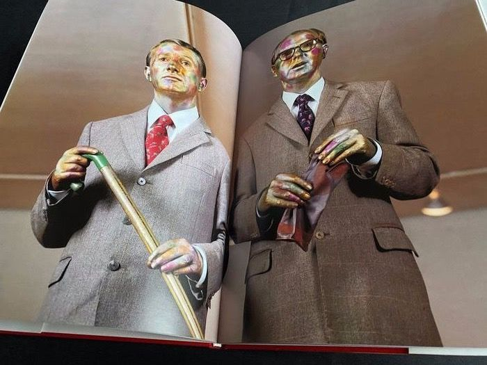 Signed; Gilbert and George - The singing sculpture - 1993