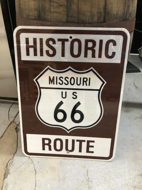 Bewegwijzering - Historic Route 66 Missouri bord road sign - Route 66 - 1980-1990