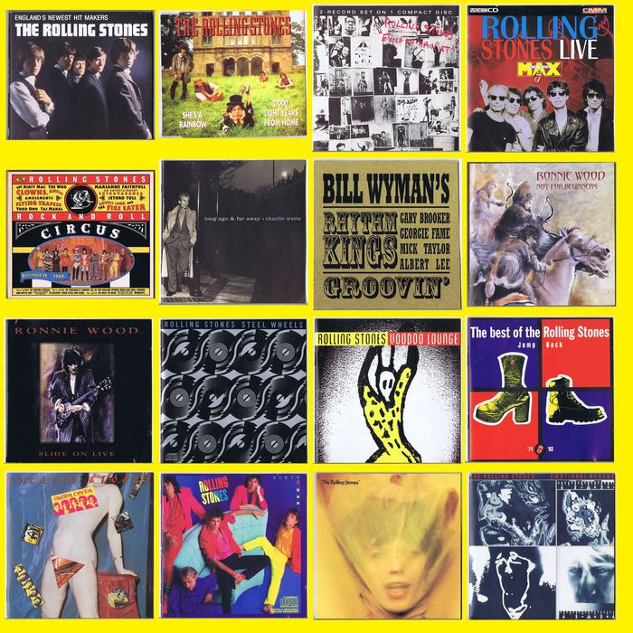 Rolling Stones & Related - Collection of 16 CD's - Multiple titles - CD's - 1965/1997