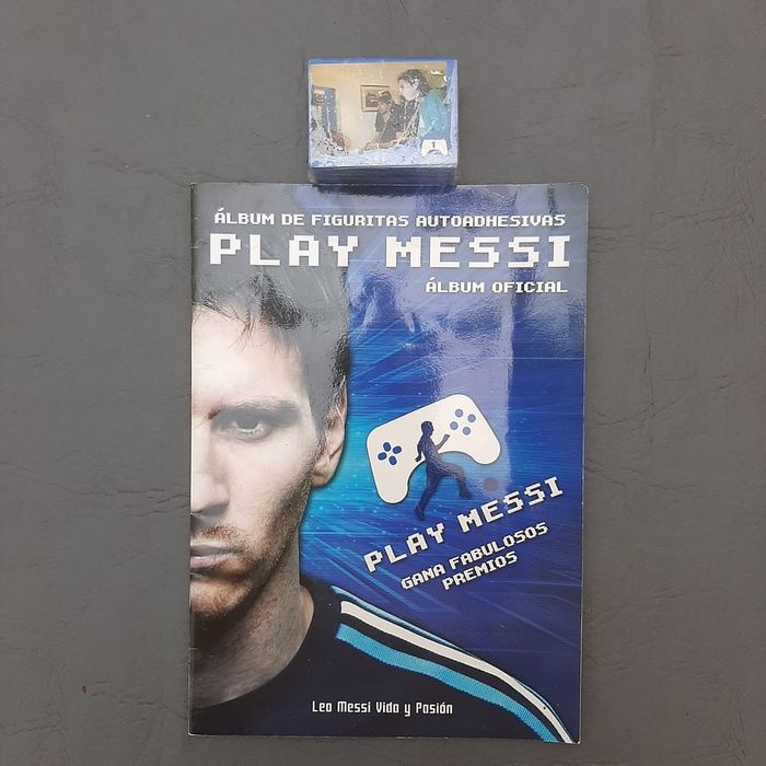 Variant Panini - Play Messi - Empty album + Complete loose set + Pack - 2012