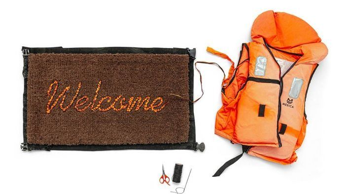 Banksy - Love Welcomes - Welcome Mat