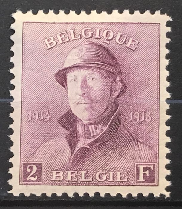 Belgium 1919/1920 - Albert I with helmet - With sheet edges and nicely centred - OBP / COB 165/178