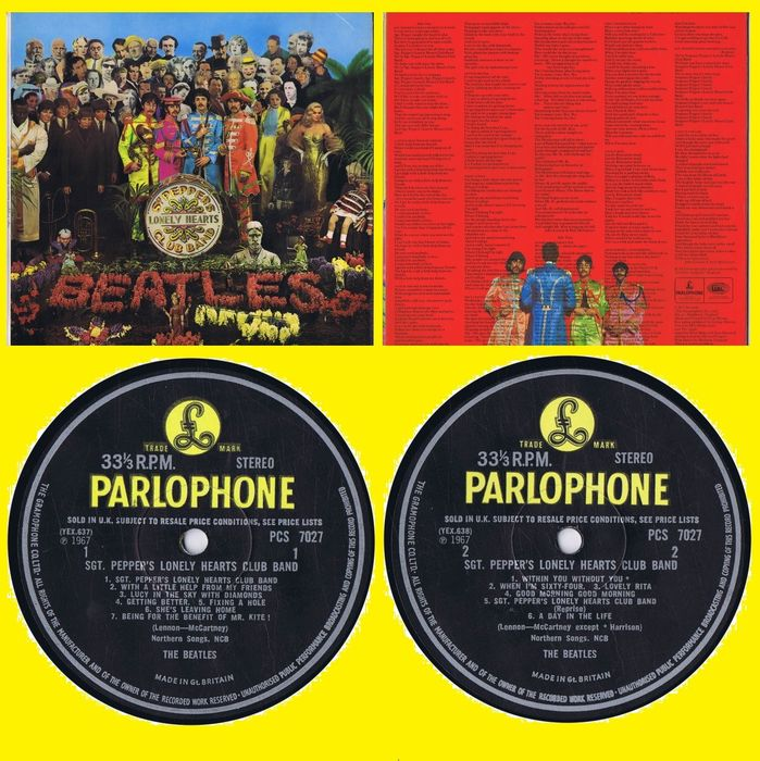 Beatles - Sgt. Pepper's Lonely Hearts Club Band - First UK Pressing - LP Album - 1967/1967