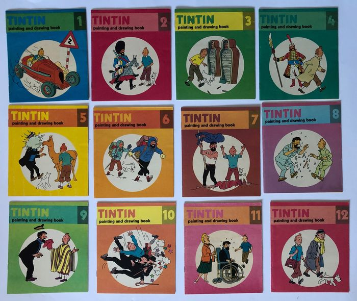 Tintin - Tintin Painting and drawing book - Collection complète - Broché - (1977)