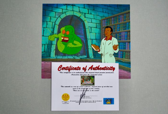"""""""The Real Ghostbusters"""" - Original Animation Production Cel with Certificate of Authenticity - (1986/1991)"""