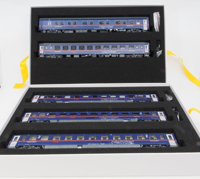 LS Models H0 - PI97 027 - Passenger carriage set, Nightjet - 5 parts - ÖBB